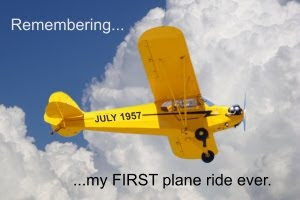 first plane ride 1957