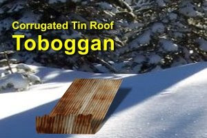 tin roof toboggan illustration