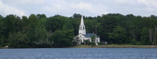 china-lake-maine-old-church