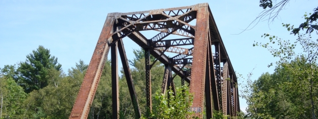 iron bridge piscataquis river derby maine