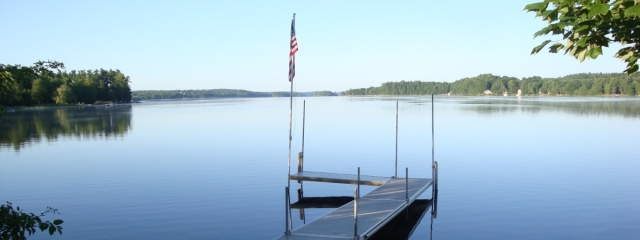 public dock on maine lake